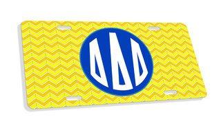 Delta Delta Delta Monogram License Plate