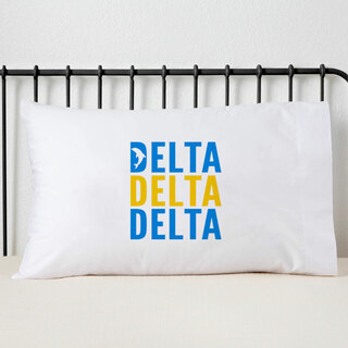 Delta Delta Delta Name Stack Pillow Cover