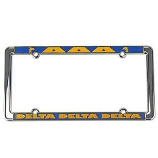Delta Delta Delta New Design License Plate Frame