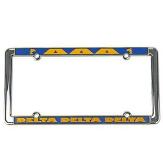 Delta Delta Delta New Design License Plate Frame