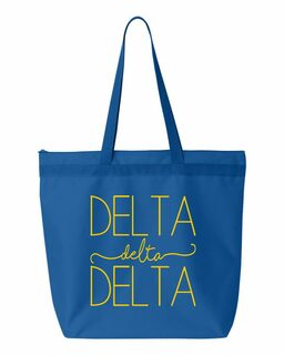 Delta Delta Delta New Handwriting Tote Bag