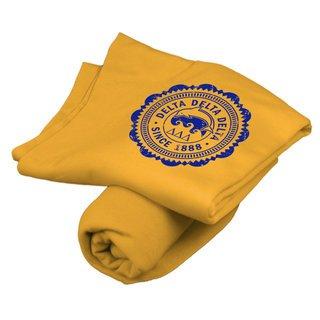 Delta Delta Delta Old School Seal Sweatshirt Blanket