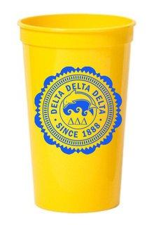 Delta Delta Delta Old Style Classic Giant Plastic Cup