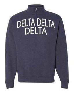 Delta Delta Delta Over Zipper Quarter Zipper Sweatshirt