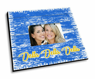 Delta Delta Delta Painted Fence Picture Frame