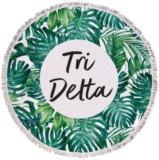 Delta Delta Delta Palm Leaf Fringe Towel Blanket