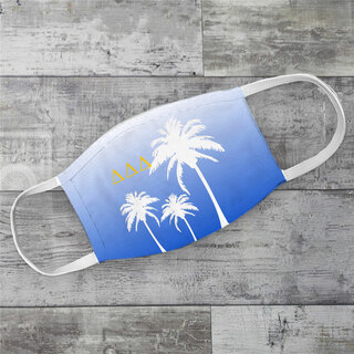 Delta Delta Delta Palm Trees Face Mask