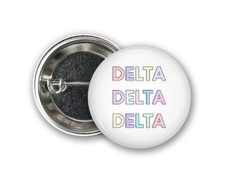 Delta Delta Delta Pastel Letter Button