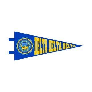 "Delta Delta Delta Pennant Decal 4"" Wide"