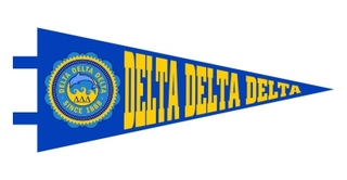 Delta Delta Delta Pennant Decal Sticker