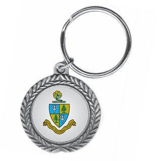 Delta Delta Delta Pewter Key Ring