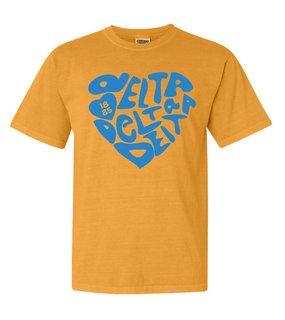 Delta Delta Delta Piece of My Heart Sorority Comfort Colors T-Shirt
