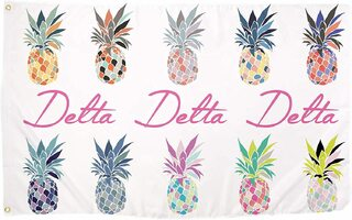 Delta Delta Delta Pineapple Flag