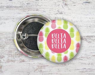Delta Delta Delta Pineapples Button