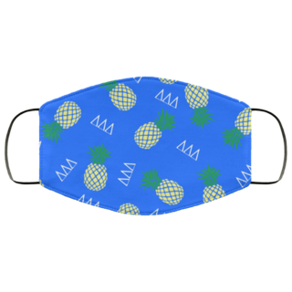 Delta Delta Delta Pineapples Face Mask