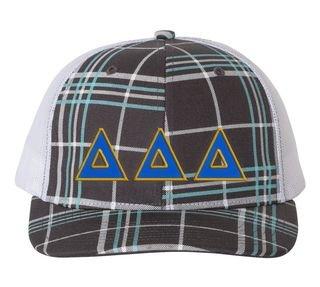 Delta Delta Delta Plaid Snapback Trucker Hat