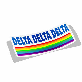 Delta Delta Delta Prism Decal Sticker