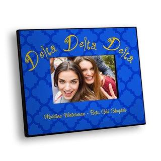Delta Delta Delta Quatrefoil Picture Frame