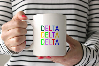 Delta Delta Delta Rainbow Coffee Mug
