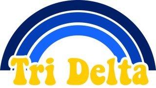 Delta Delta Delta Rainbow Decals