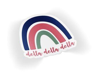 Delta Delta Delta Rainbow Sticker