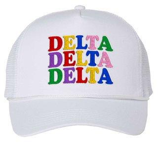 Delta Delta Delta Rainbow Trucker Hat