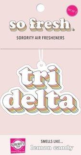 Delta Delta Delta Retro Air Freshener (2 pack)