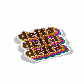 Delta Delta Delta Retro Maya Decal Sticker
