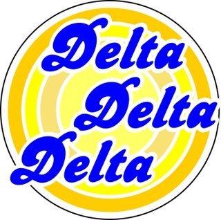 Delta Delta Delta Retro Round Decals