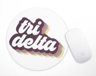 Delta Delta Delta Retro Script Mousepad