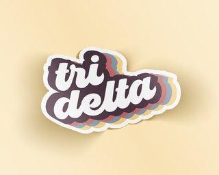 Delta Delta Delta Retro Sticker