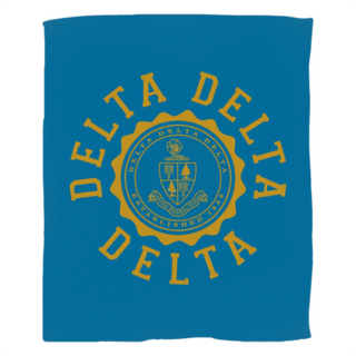 Delta Delta Delta Seal Fleece Blanket