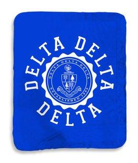 Delta Delta Delta Seal Sherpa Lap Blanket