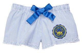 DISCOUNT-Delta Delta Delta Seersucker Bitty Shorts