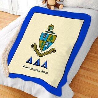 Delta Delta Delta Sherpa Lap Blanket
