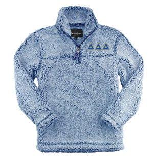 Delta Delta Delta Sherpa Quarter Zip Pullover