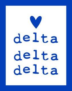 Delta Delta Delta Simple Heart Sticker