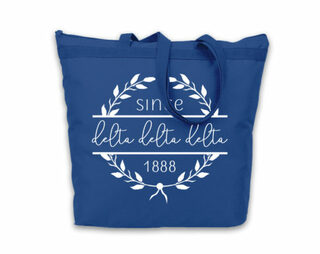 Delta Delta Delta Since Established Tote bag