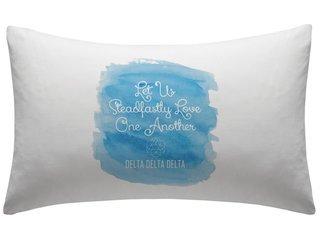 Delta Delta Delta Motto Watercolor Pillowcase