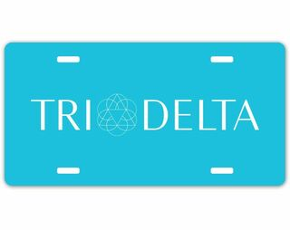 Delta Delta Delta Sorority Logo License Cover