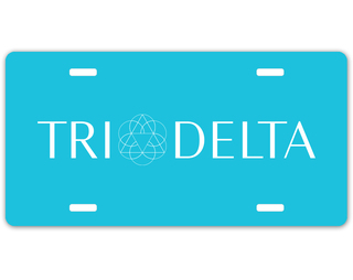 Delta Delta Delta Sorority Logo License Cover