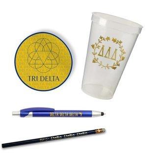 Delta Delta Delta Sorority Mascot Set $8.99