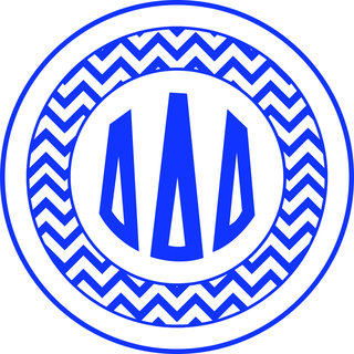 Delta Delta Delta Sorority Monogram Bumper Sticker