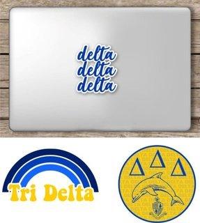 Delta Delta Delta Sorority Sticker Collection - SAVE!