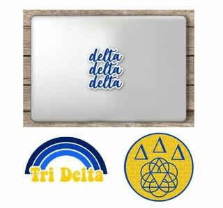 Delta Delta Delta Sorority Sticker Collection - SAVE!