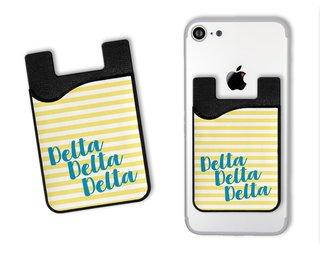 Delta Delta Delta Sorority Stripes Caddy Phone Wallet