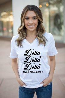 Delta Delta Delta Spirit Stars V-Neck