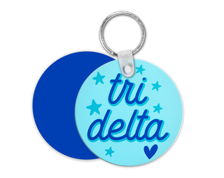 Delta Delta Delta Star Key Chain