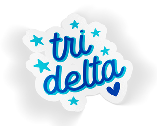 Delta Delta Delta Star Sticker