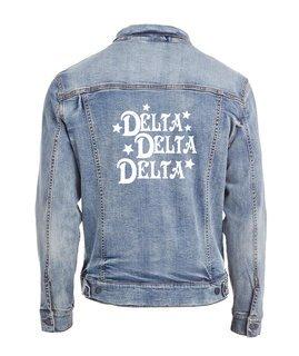 Delta Delta Delta Star Struck Denim Jacket